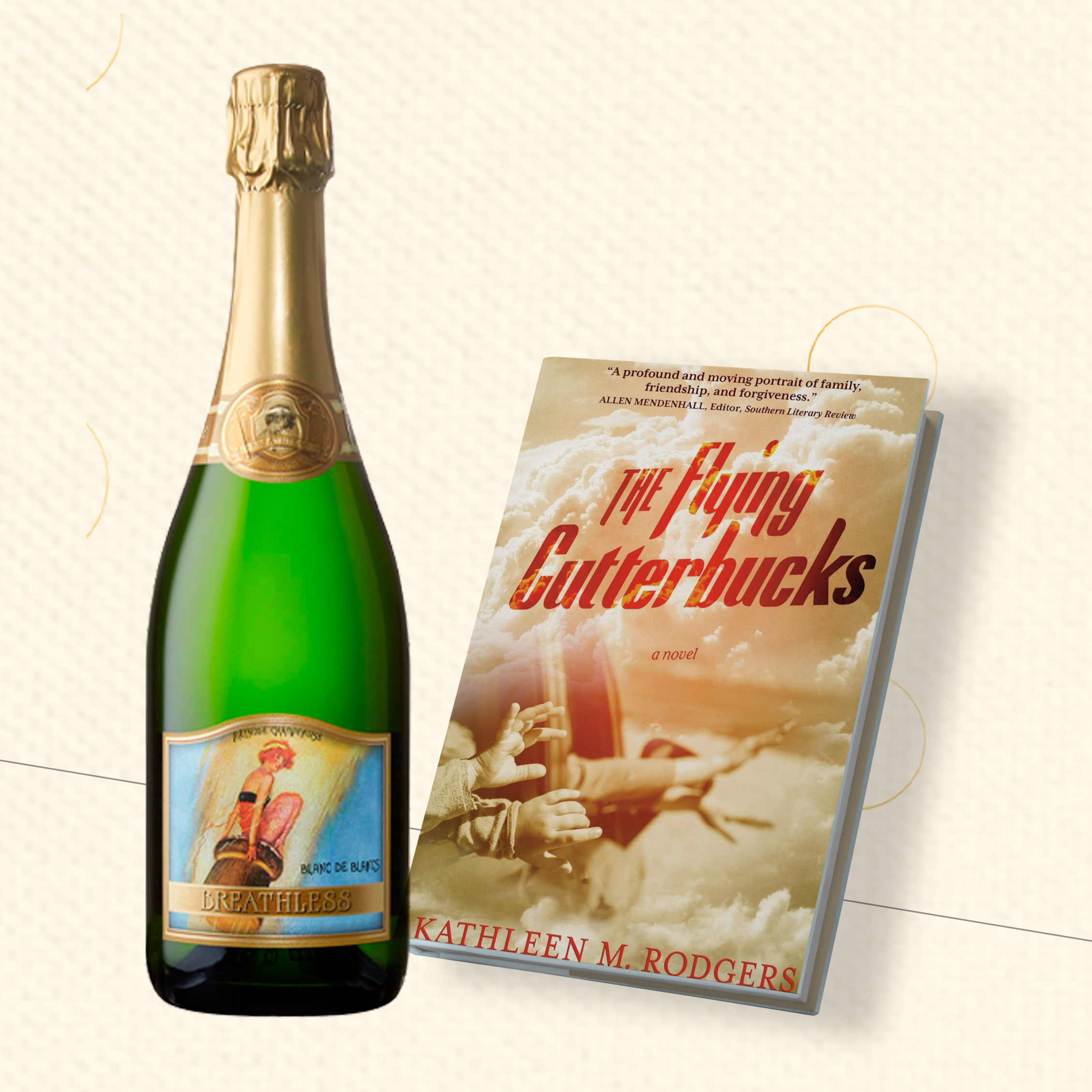 "Book Cover of ""The Flying Cutterbucks"" and Breathless Brut"