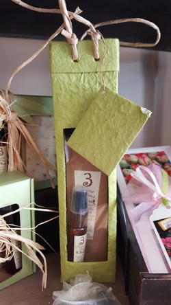 Two Olive Oil Lotion Gift Bag