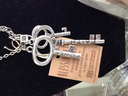 Silver Keys Necklace