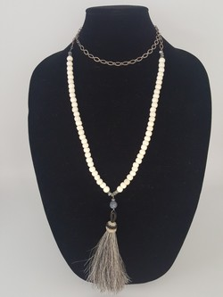 Beaded horse tassel necklace