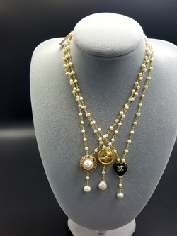 Chanel Button Necklace L