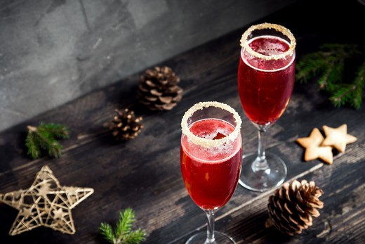14. Poinsettia Champagne Cocktail